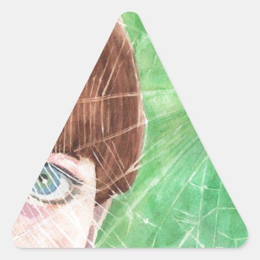 tela 001.jpg de los noahs pegatina triangular