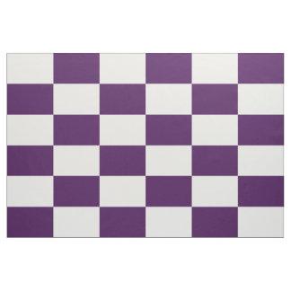Tela a cuadros real del púrpura y blanca de los telas
