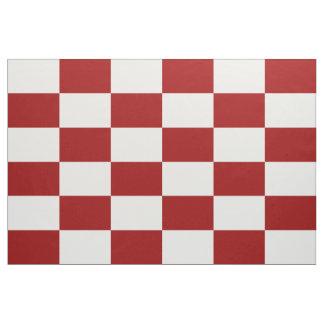 Tela a cuadros roja y blanca geométrica de los telas
