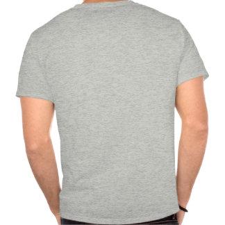 Tela a rayas 2 verde-rojo-azules - frente de la camisetas