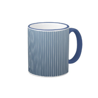Tela a rayas azul del dril de algodón taza