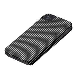 Tela a rayas blanco y negro Case-Mate iPhone 4 carcasa
