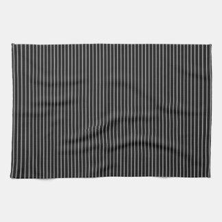 Tela a rayas blanco y negro toallas de cocina