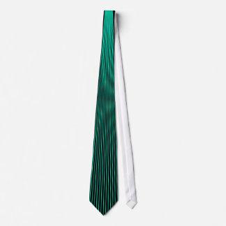Tela a rayas de la turquesa corbatas