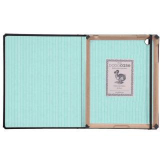 Tela a rayas de los azules cielos iPad cobertura