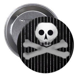 tela a rayas skully pins