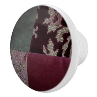 Tela acolchada pomo de cerámica