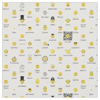 Tela amarilla de los Emoticons Telas