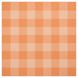 Tela anaranjada del modelo de la guinga del telas