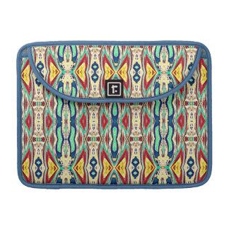 Tela azteca. Modelo tribal. Nativo americano Funda Para Macbook Pro