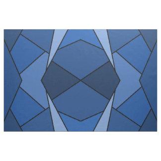 Tela azul abstracta geométrica de los polígonos telas