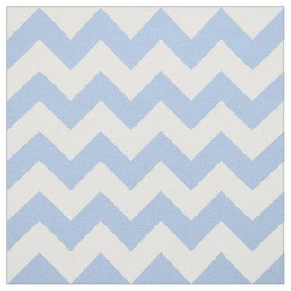 Tela azul clara y blanca horizontal del zigzag telas