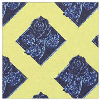 Tela azul y Amarilla-Zazzle de Diamonds-06 color Telas