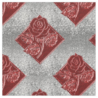 Tela blanca roja color de rosa del Reflejo-Zazzle Telas