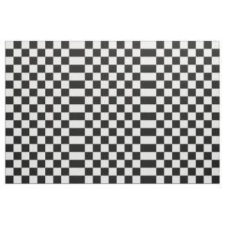 Tela blanco y negro a cuadros telas