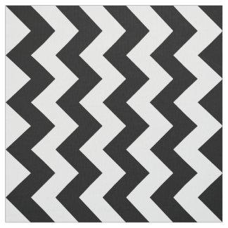 Tela blanco y negro vertical del modelo de zigzag