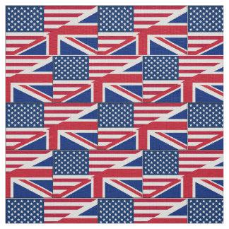 Tela británica americana de la bandera del telas