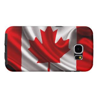 Tela canadiense de la bandera funda samsung galaxy s6