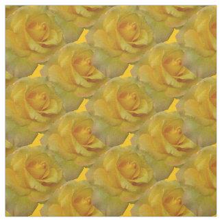 Tela color de rosa de la flor del oro de la tela telas