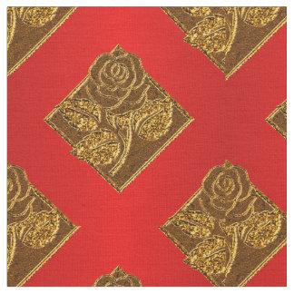 Tela color de rosa del rojo Diamonds-10 y del Telas