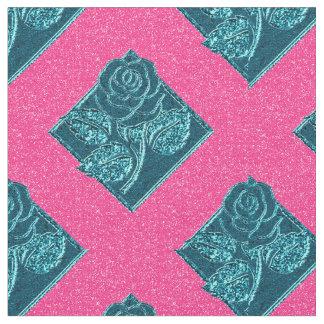 Tela color de rosa del rosa Diamonds-10 y del Telas