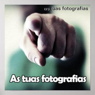 Tela com as tuas fotografias impressão