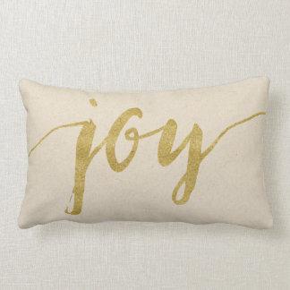 Tela de algodón de la alegría y de la esperanza cojín