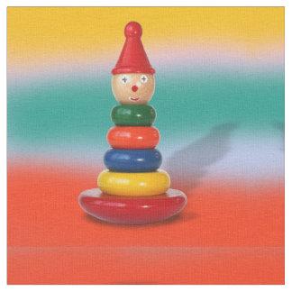 tela de amontonamiento colorida del juguete telas