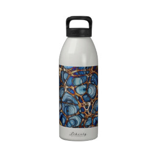 Tela de araña artística colorida botella de beber