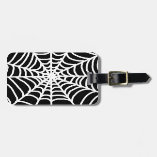 tela de araña blanca etiquetas de maletas
