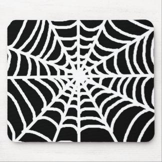 Tela de araña blanco y negro tapete de raton