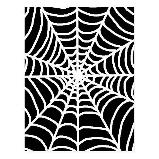 Tela de araña blanco y negro postales