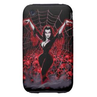 Tela de araña de Vampira gótica iPhone 3 Tough Cárcasas