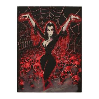 Tela de araña de Vampira gótica Cuadro De Madera