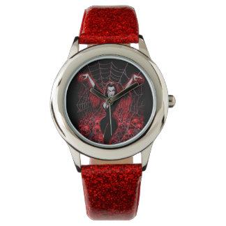 Tela de araña de Vampira gótica Reloj