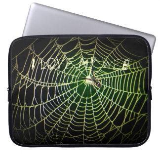 """Tela de araña del Argiope """"amo mi Web """" Mangas Portátiles"""