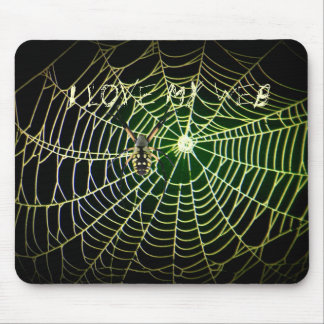 "Tela de araña del Argiope ""amo mi Web "" Tapete De Ratones"