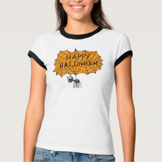 Tela de araña del feliz Halloween Playeras