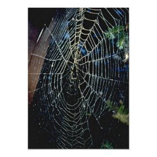 Tela de araña invitacion personalizada