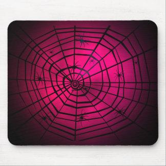 Tela de arañas rosada Mousepad Alfombrilla De Ratones