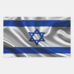 Tela de la bandera de Israel Rectangular Pegatina