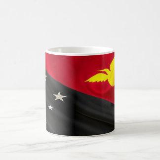 Tela de la bandera de Papúa Nueva Guinea Taza