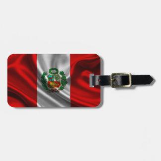 Tela de la bandera de Perú Etiqueta Para Maleta