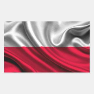 Tela de la bandera de Polonia Pegatina Rectangular