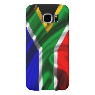 Tela de la bandera de Suráfrica Fundas Samsung Galaxy S6