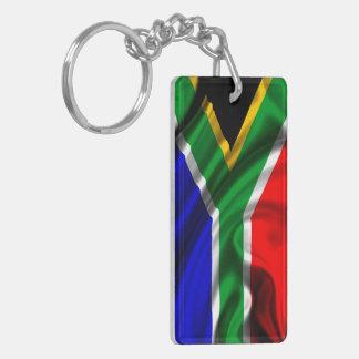 Tela de la bandera de Suráfrica Llavero Rectangular Acrílico A Doble Cara