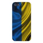 Tela de la bandera de Ucrania iPhone 5 Carcasa