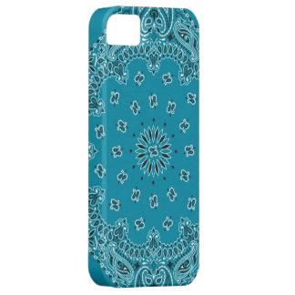 Tela de la bufanda del pañuelo de las azules iPhone 5 coberturas