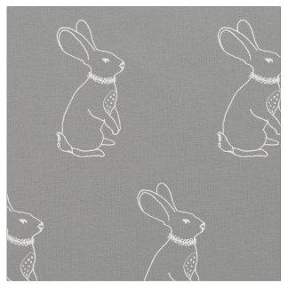Tela de la impresión del conejo telas
