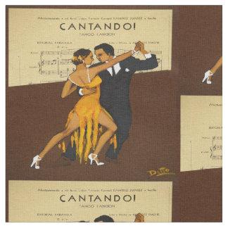 Tela de la impresión del poster del vintage de los telas